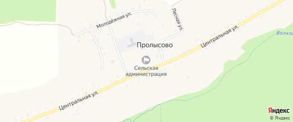 Территория Пай 75 на карте территории Пролысовского сельского поселения с номерами домов