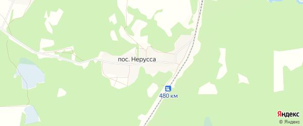 Карта поселка Неруссы в Брянской области с улицами и номерами домов