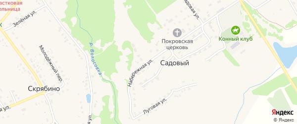 Набережная улица на карте Садового поселка с номерами домов
