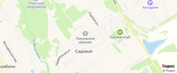 Садовая улица на карте Садового поселка с номерами домов