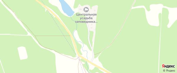 Заповедная улица на карте железнодорожной станции Неруссы с номерами домов