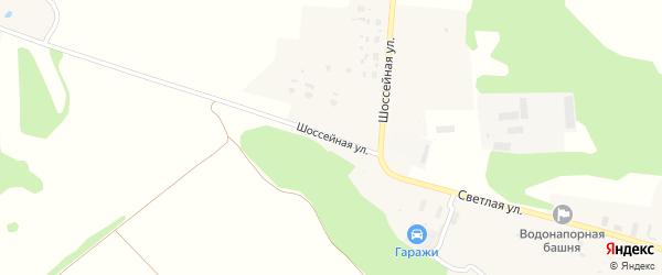 Шоссейная улица на карте села Теменичей с номерами домов