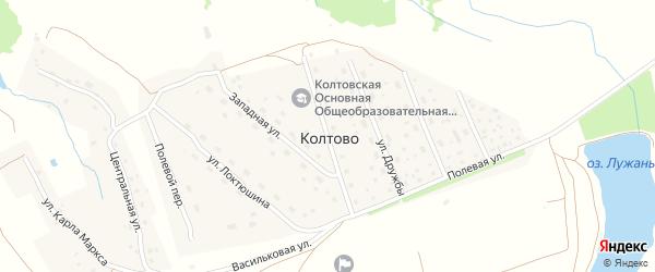 Тамбовская улица на карте деревни Колтово с номерами домов