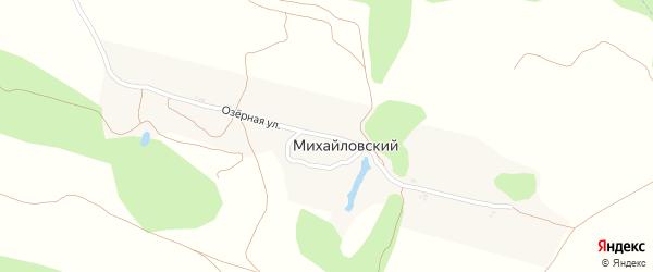 Озерная улица на карте Михайловского поселка с номерами домов