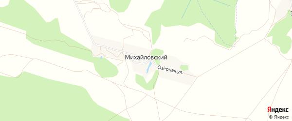 Карта Михайловского поселка в Брянской области с улицами и номерами домов