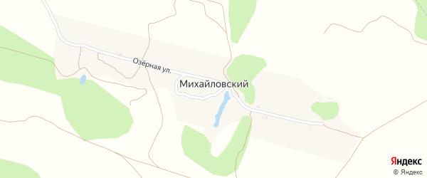 Садовая улица на карте Михайловского поселка с номерами домов