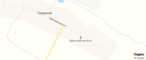Центральная улица на карте Грудской деревни с номерами домов