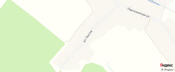 Улица Листок на карте села Подывотье с номерами домов