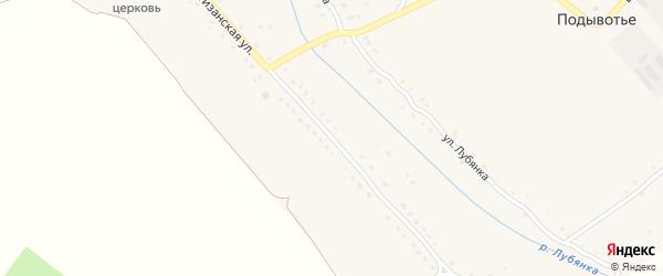 Партизанская улица на карте села Подывотье с номерами домов