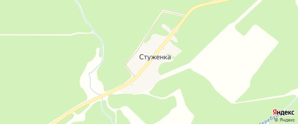 Центральная улица на карте поселка Стуженки с номерами домов