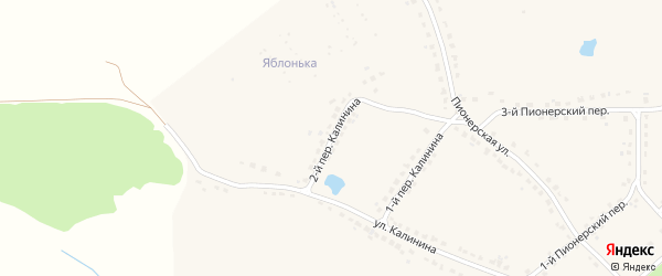 Переулок 2-й Калинина на карте поселка Стари с номерами домов