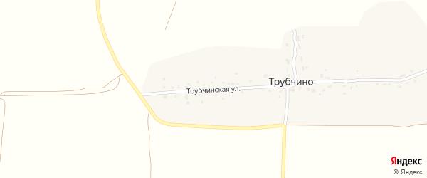 Трубчинская улица на карте деревни Трубчино с номерами домов