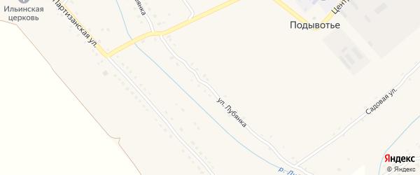 Улица Лубянка на карте села Подывотье с номерами домов