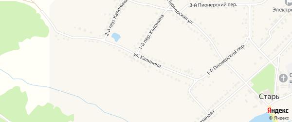 Улица Калинина на карте поселка Стари с номерами домов