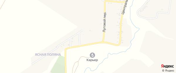 Зеленая улица на карте деревни Стаево с номерами домов