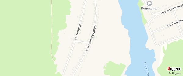 Комсомольская улица на карте поселка Стари с номерами домов
