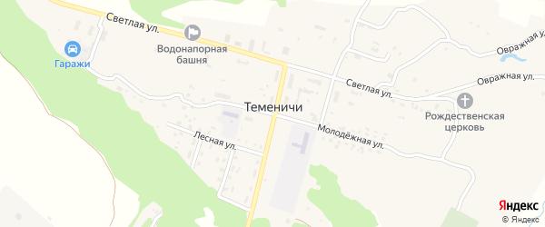 Львовская улица на карте села Теменичей с номерами домов