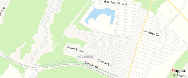 Карта территории сдт Лесная поляна в Брянской области с улицами и номерами домов