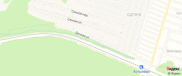Дачная улица на карте Сельца с номерами домов