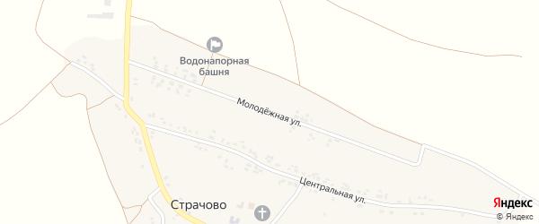 Молодежная улица на карте села Страчово с номерами домов