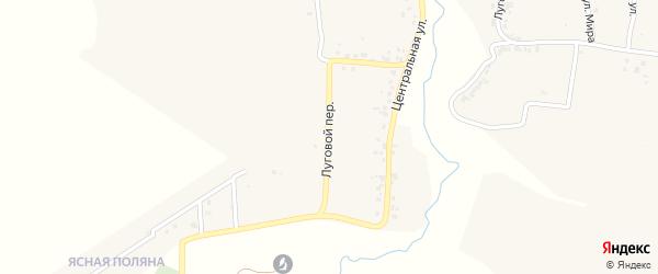 Луговой переулок на карте деревни Стаево с номерами домов