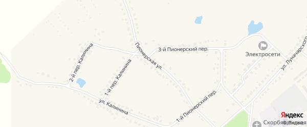 Пионерская улица на карте поселка Стари с номерами домов