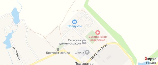 Молодежная улица на карте села Подывотье с номерами домов