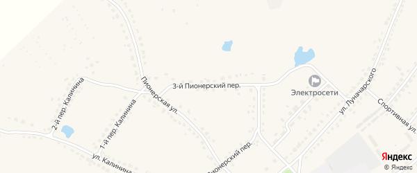 3-й Пионерский переулок на карте поселка Стари с номерами домов