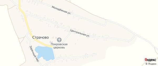 Центральная улица на карте села Страчово с номерами домов