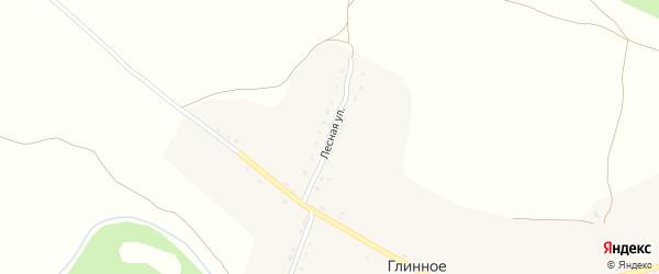 Лесная улица на карте Глинного села с номерами домов