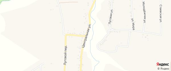 Центральная улица на карте деревни Стаево с номерами домов