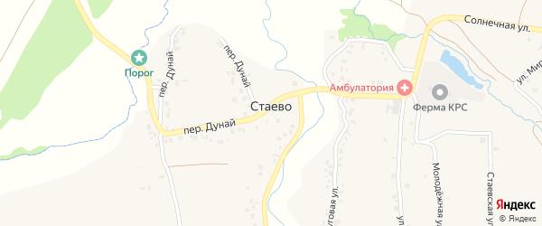 Лесная улица на карте деревни Стаево с номерами домов
