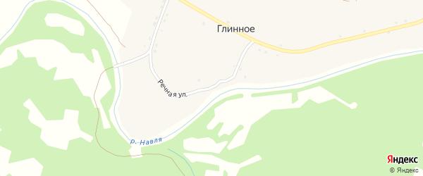 Речная улица на карте Глинного села с номерами домов