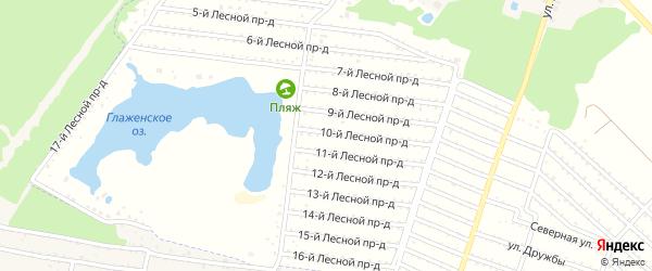 Территория сдт Лесная Поляна на карте деревни Глаженки с номерами домов