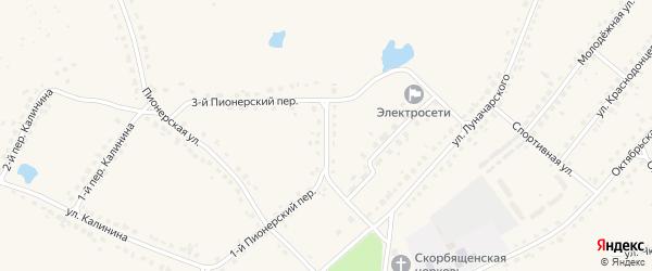 2-й Пионерский переулок на карте поселка Стари с номерами домов