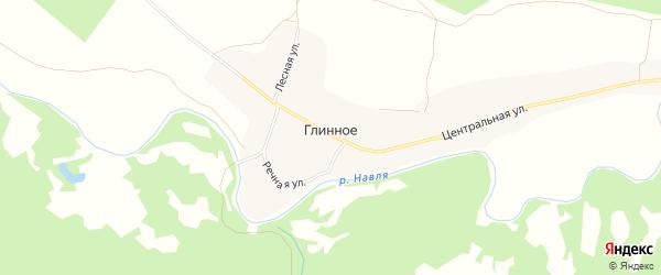 Карта Глинного села в Брянской области с улицами и номерами домов