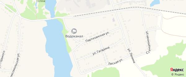Партизанская улица на карте поселка Стари с номерами домов