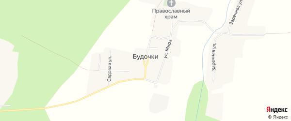 Карта деревни Будочки в Брянской области с улицами и номерами домов
