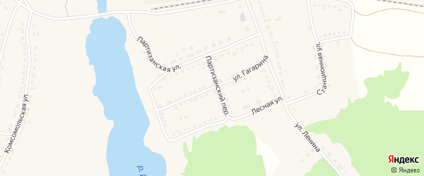 Улица Гагарина на карте поселка Стари с номерами домов