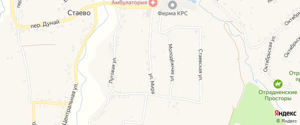 Улица Мира на карте деревни Стаево с номерами домов