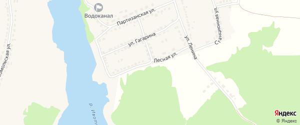 Лесная улица на карте поселка Стари с номерами домов