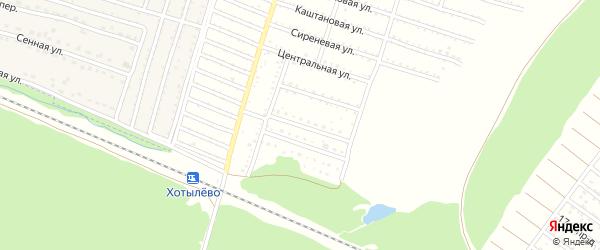 Территория сдт Электрик на карте поселка Нетьинки с номерами домов