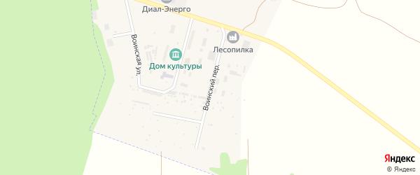 Воинский переулок на карте деревни Меркульево с номерами домов