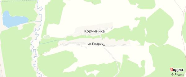 Карта поселка Корчминки в Брянской области с улицами и номерами домов