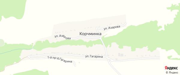 Улица Азарова на карте поселка Корчминки с номерами домов