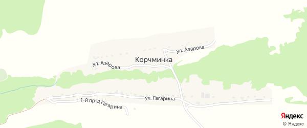 Территория сдт Корчминское на карте поселка Корчминки с номерами домов