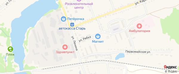 Улица Рябка на карте поселка Стари с номерами домов