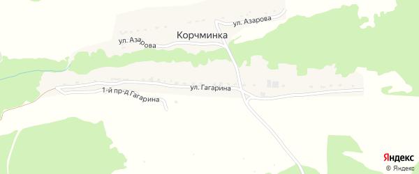 Улица Гагарина на карте поселка Корчминки с номерами домов