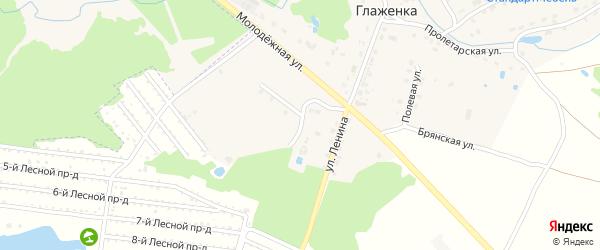 Лесная улица на карте деревни Глаженки с номерами домов