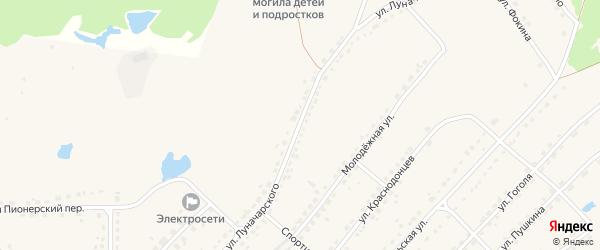 Улица Луначарского на карте поселка Стари с номерами домов